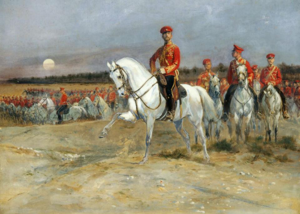 Жан-Батист-Эдуар Детай - Смотр войск Николаем II.jpg