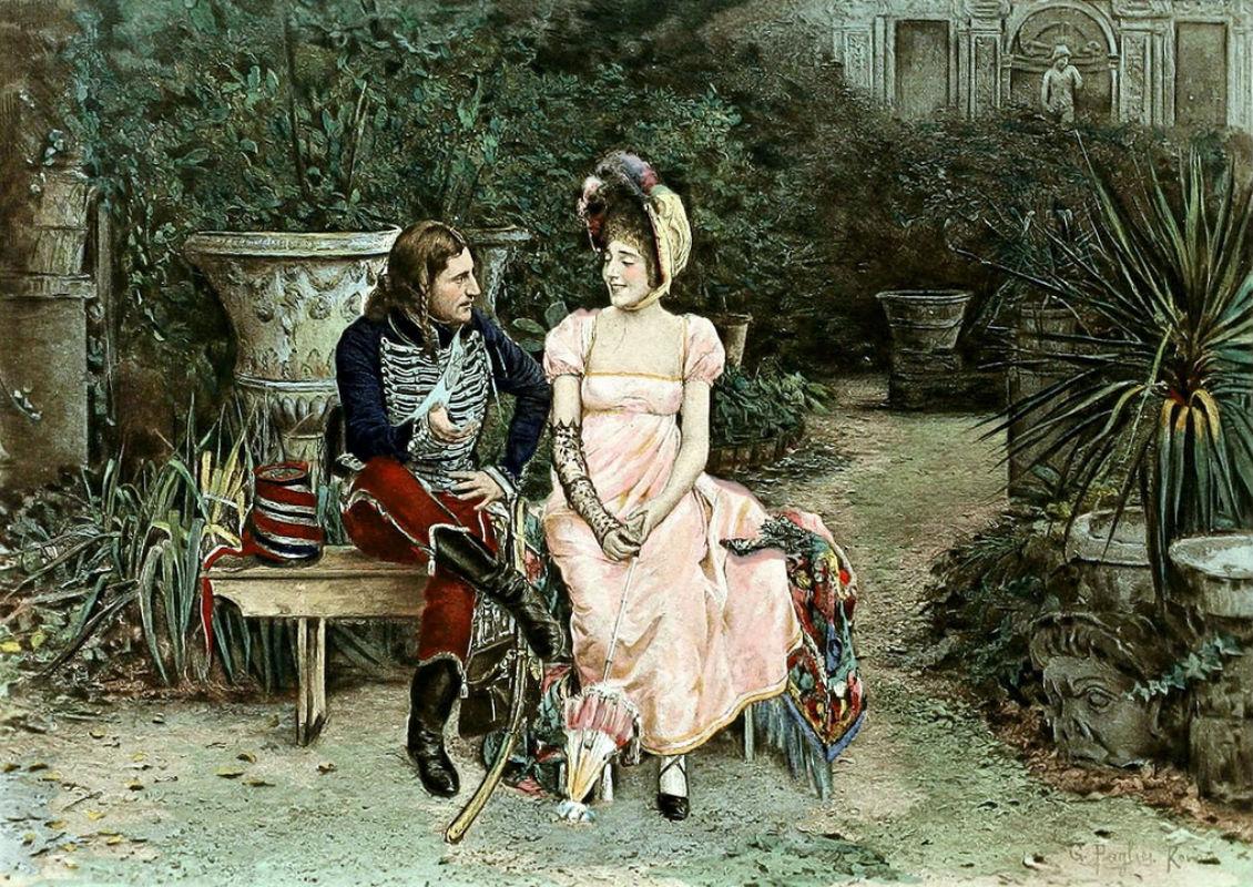 G Pagliei - Au jardin (В саду).jpg