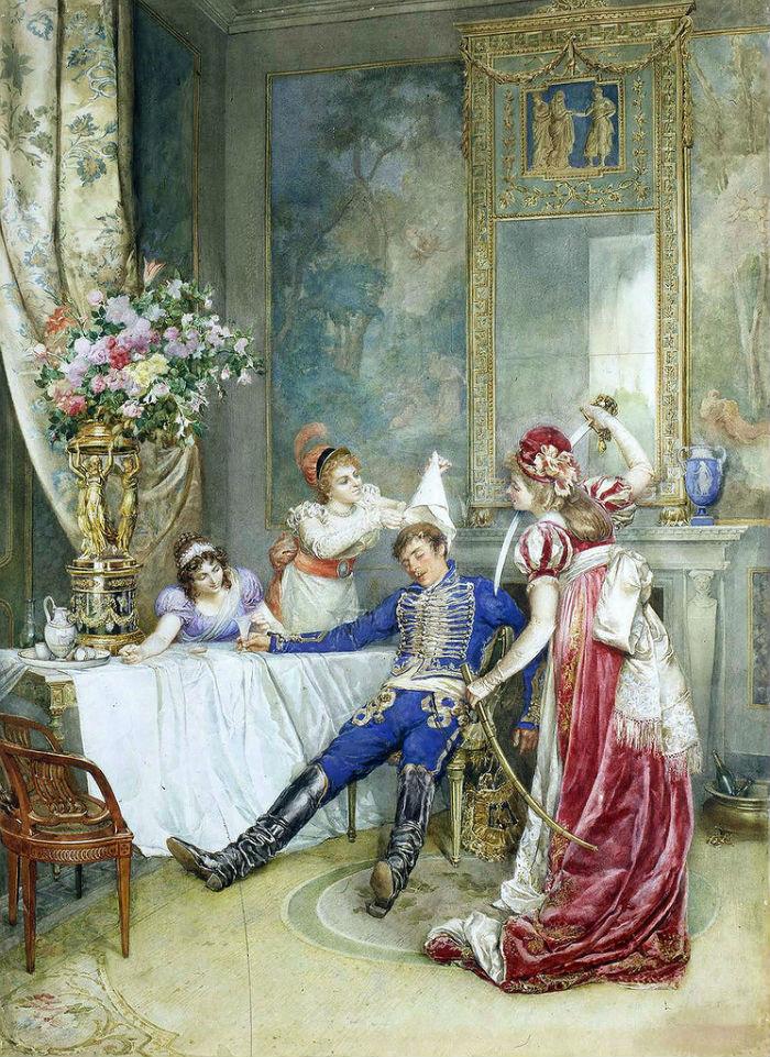 Attilio Simonetti (1843-1925) - Пьяный - 1877.jpg