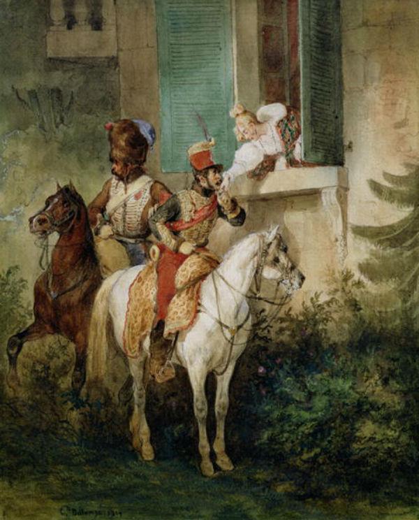 The Hussar's Adieu   Joseph Louis Hippolyte Bellange.JPG