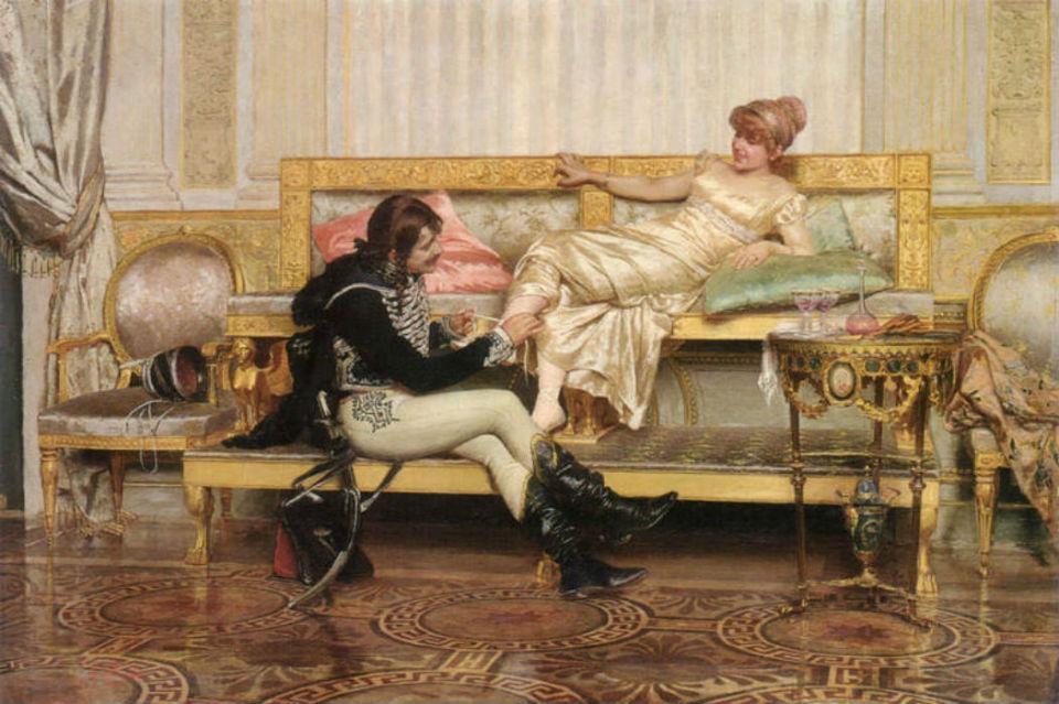 Paul Louis Narcisse Grolleron - Гроллерон -  Гусар и дама.jpg