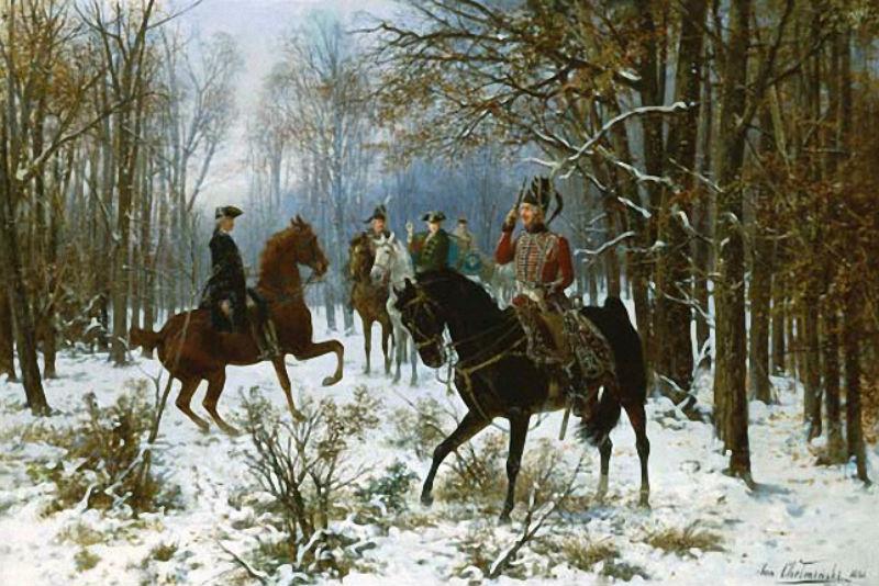 Jan van Chelminski (Polish 1851–1925) Duell an einem Wintermorgen.jpg