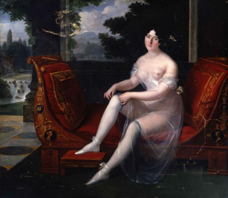 Louis Benjamin Marie Devouges - Probable retrato de Paulina Borghese.jpg
