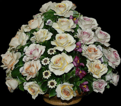 Розы с садовыми цветами  - Италия - ARTIGIANO CAPODIMONTE.jpg