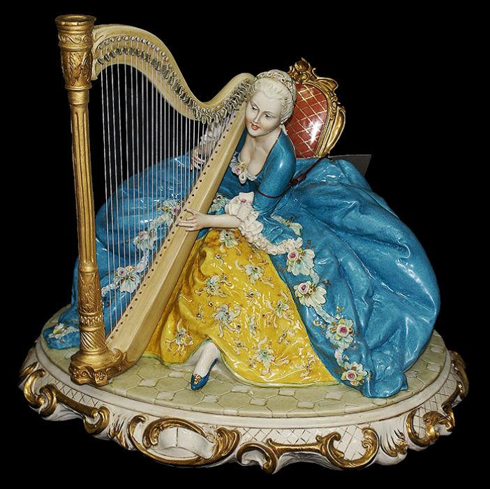 Дама с арфой - Porcellane Principe - Италия.jpg