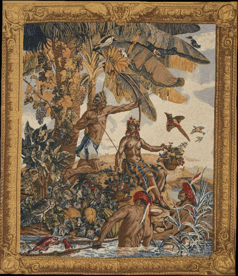 Гобелен «Новая Индия» Pecheurs Indiens - Ателье гобеленов - Франция XVIIIвек - Национальный музей Париж.jpg
