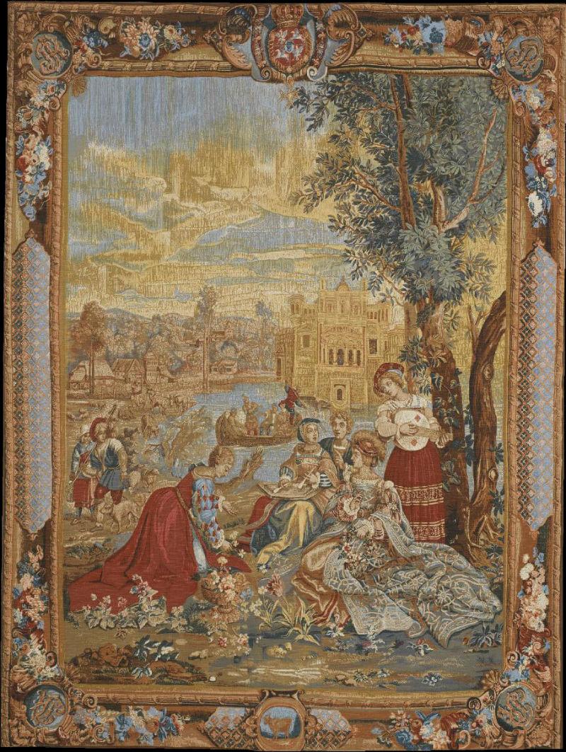 Гобелен «Концерт месяца июнь» Le Concert 'Mois Davril - Ателье Гобеленов 18 век - музей гобеленов Париж.jpg