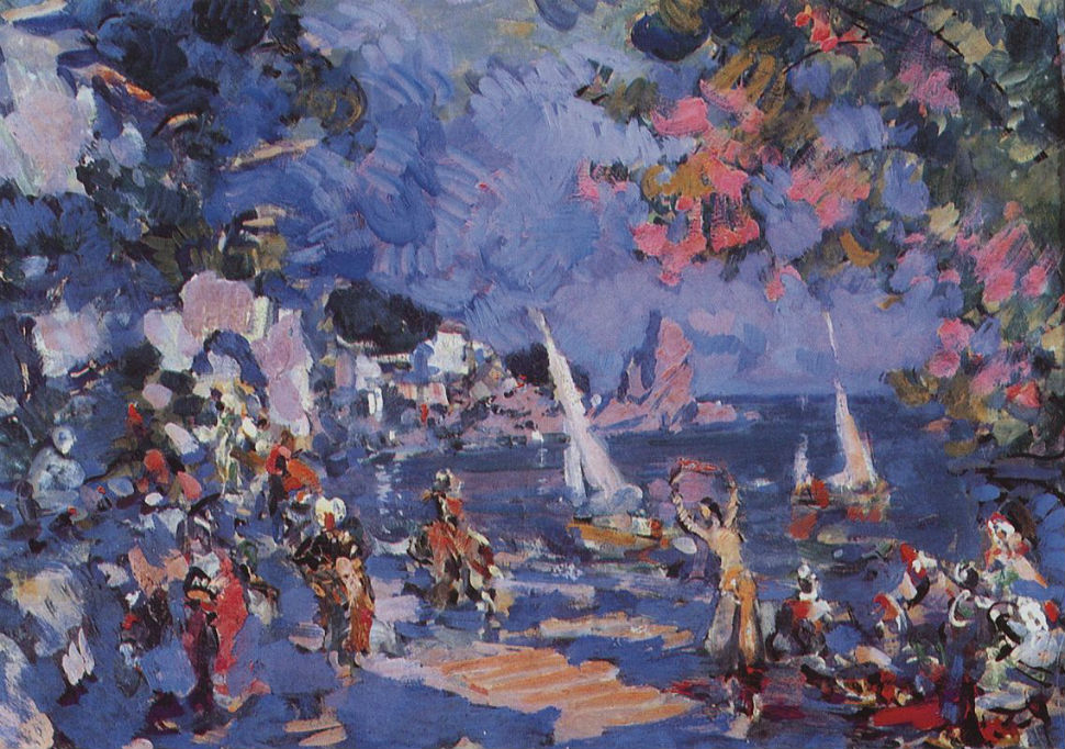 Невольничий рынок на Востоке - эскиз декорации к балету А.jpg