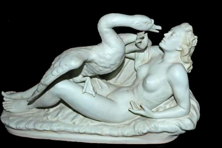 Леда с лебедем фарфоровая скульптура Германия.jpg