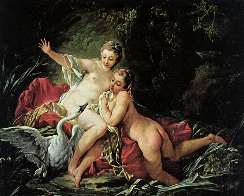 Франсуа Буше - Леда и лебедь - 1741.jpg