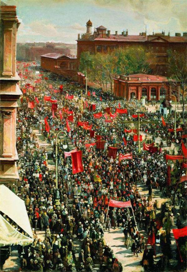 Бродский Исаак - Первомайская демонстрация на проспекте 25 октября - 1934.jpg