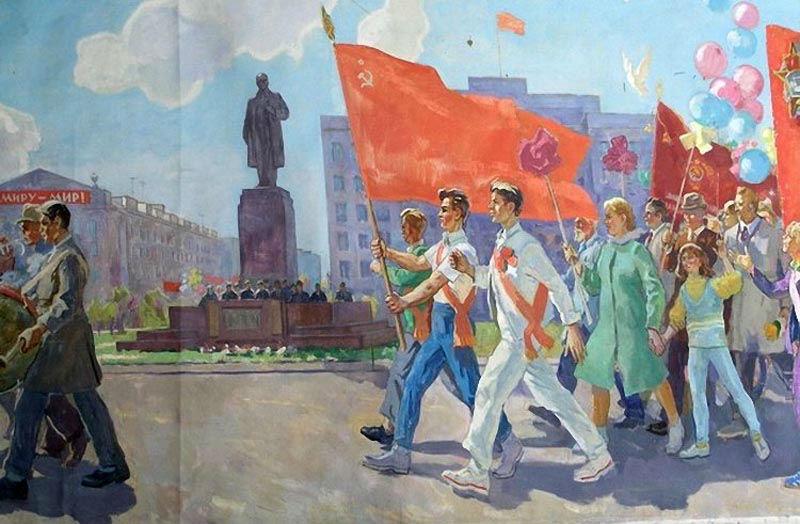 Кобозев Руслан Андреевич - Казанский завод ЭВМ на первомайской демонстрации - 1974.jpg