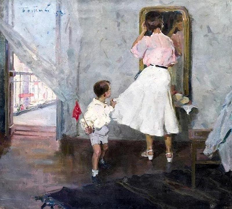 Божий Михаил Михайлович - Мама, парад уже начался! - 1958.jpg
