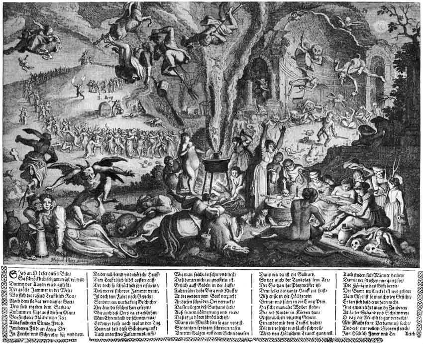 Михаэль Хеер - Шабаш на Лысой горе в Вальпургиеву ночь - Гравюра - 1626.jpg