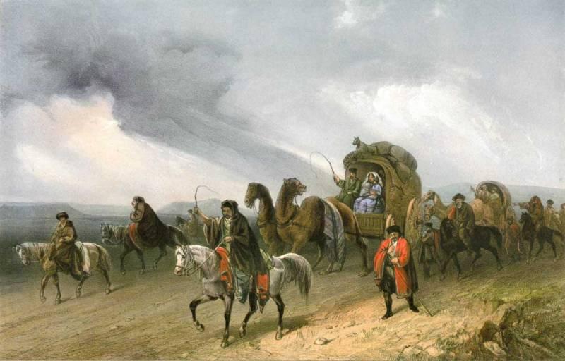Татары, путешествующие по степи.jpg