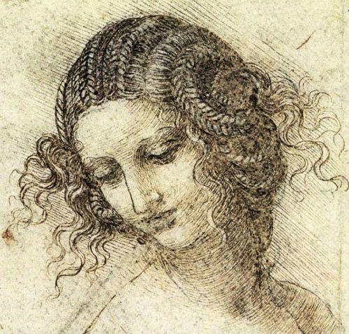 Леонардо да Винчи - Эскиз головы Леды - 1506.jpg
