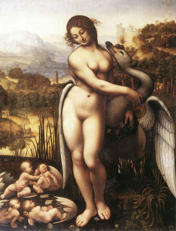 Чезаре да Сесто (1477-1523) - Леда и лебедь (копия несохранившейся картины Леонардо да Винчи).jpg