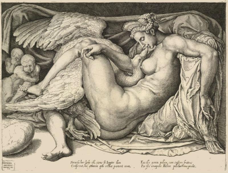 Корнелис Бос - отпечаток с работы Микеланджело (1530-1550).jpg