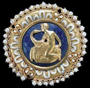 Бенвенуто Челлини - медальон Леда и лебедь - 1520.jpg