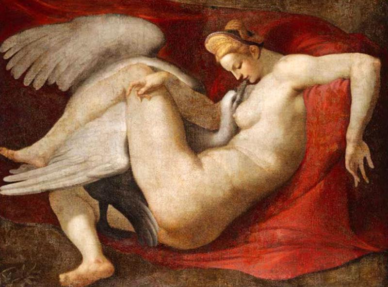 Leda and the Swan - копия с утраченного оригинала Микеланджело работы Рубенса - 1530 - Лондонская Национальная галерея.jpg