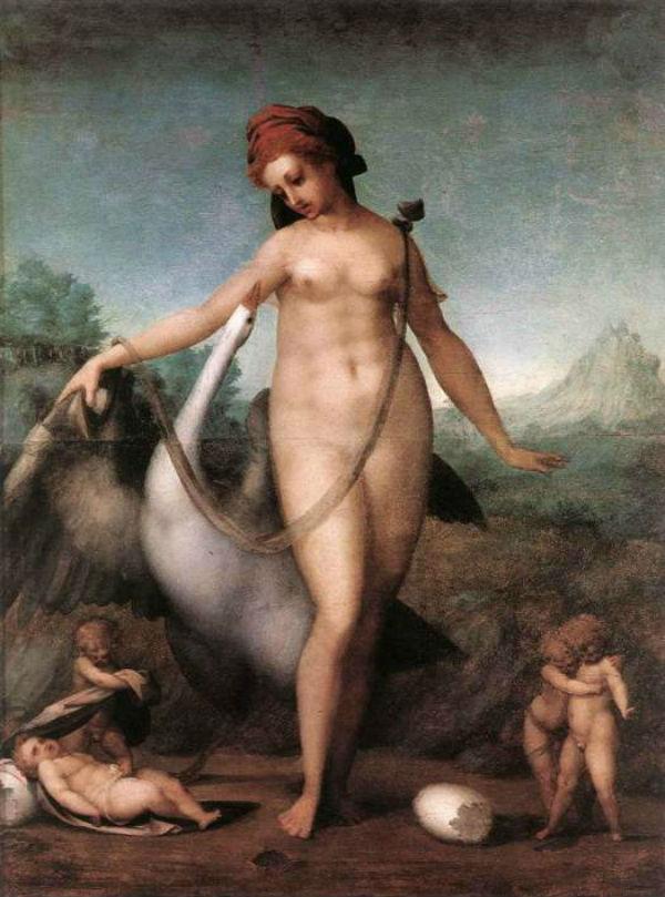 Pontormo - Леда и лебедь - Galleria degli Uffizi Florence.jpg