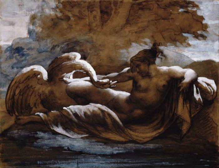 Теодор Жерико - Леда и лебедь.jpg