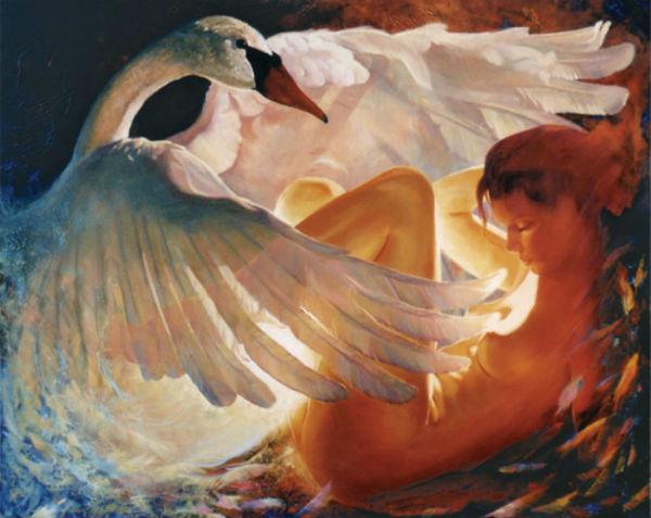 Kim Nelson - Леда и лебедь.jpg