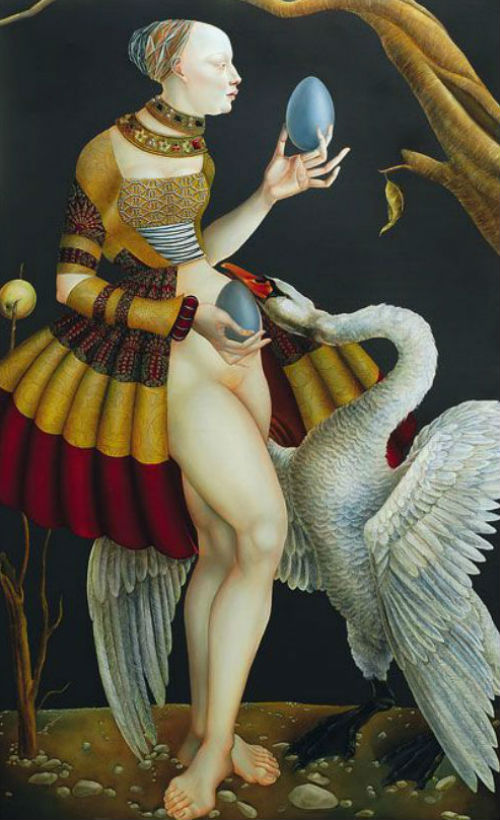 Joanna Chrobak - Иоанна Хробак - Леда и лебедь.jpg