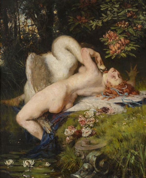 Heinrich Lossow - Leda and the swan.jpg