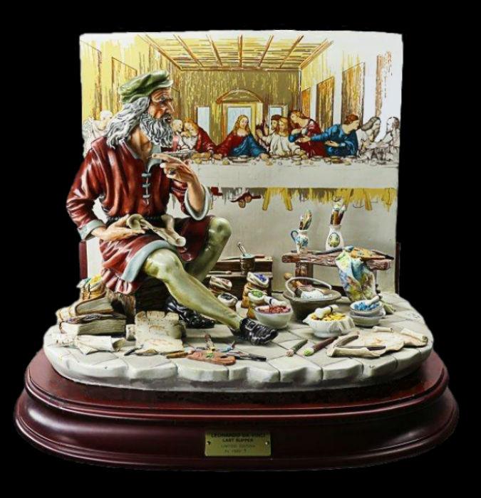 Леонардо рисующий Тайную вечерю - Италия - автор Cortese.jpg