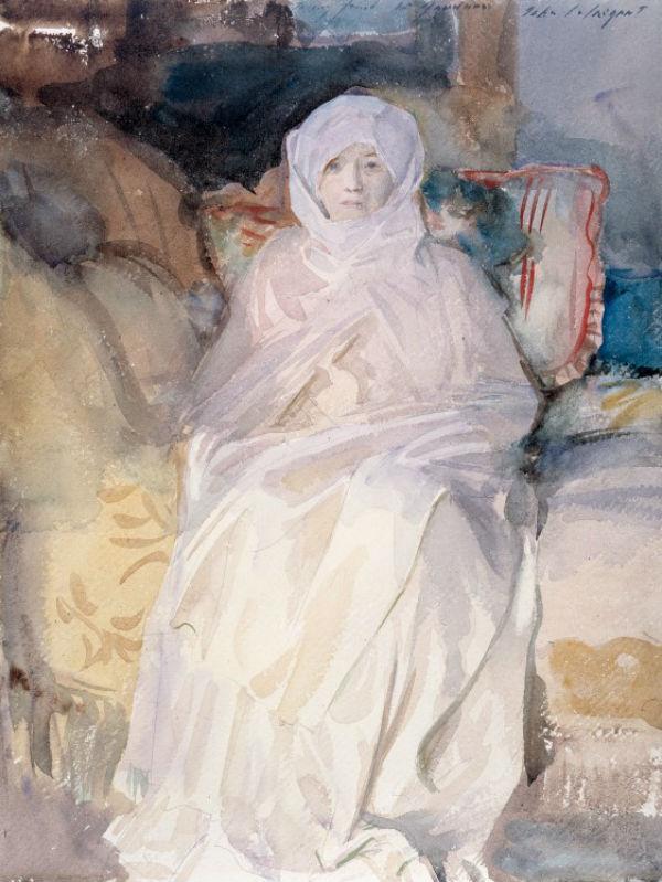 1 - Джон Сингер Сарджент - «Миссис Гарднер в белом» - 1922.jpg