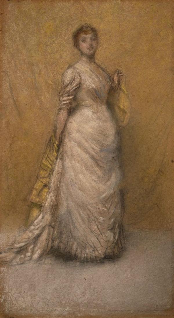 5 - Набросок в желтом и золотом - (Изабелла Стюарт Гарднер) - Джеймс Эббот Макнейл Уистлер - 1886.jpg
