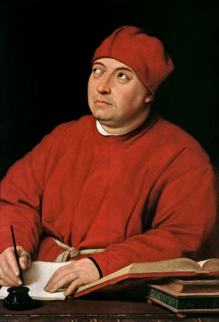 16 - Рафаэль Санти - Портрет кардинала Томмазо Ингирами - 1516.jpg