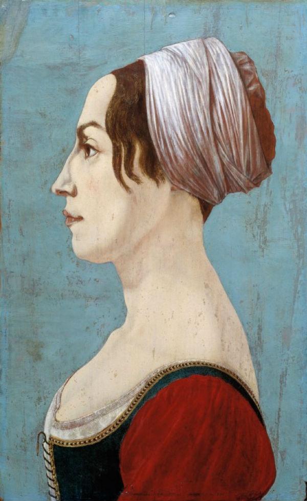 19 - Пьеро дель Поллайоло - Женский поррет- 1490-е годы.jpg