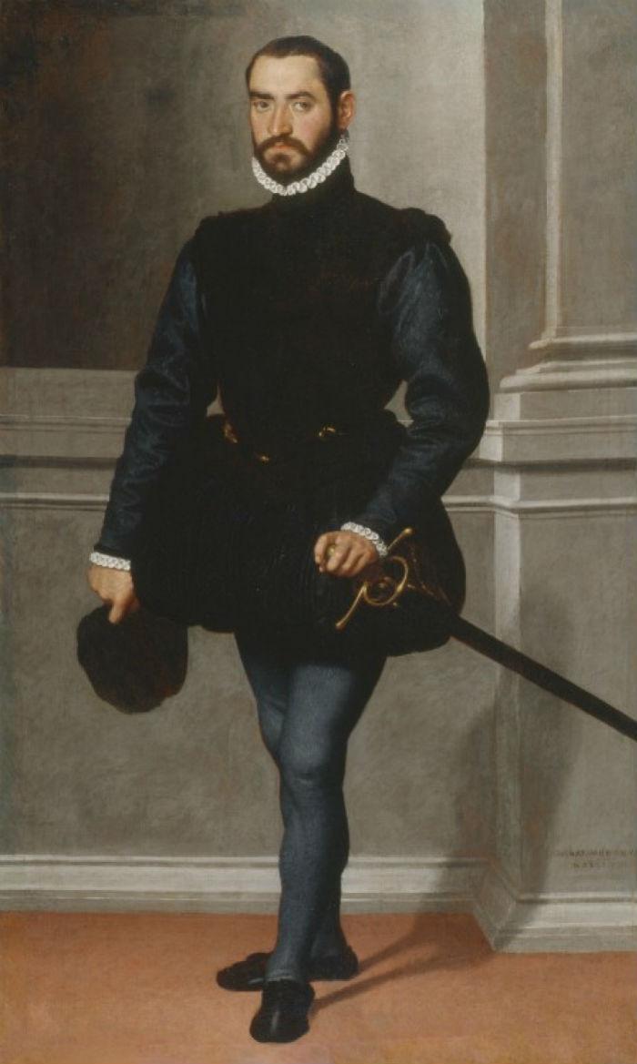 20 - Портрет мужчины (Кавалер в черном) - Джованни Баттиста Морони - 1576.jpg