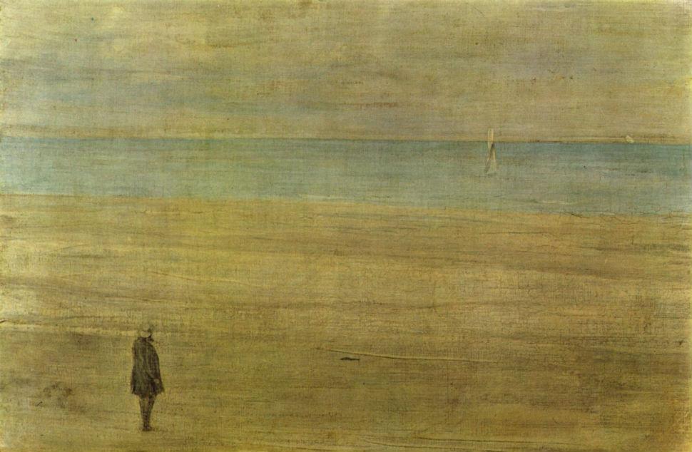 24 - Гармония синего и серебристого Трувиль - Джеймс Эббот Макнейл Уистлер - 1865.jpg
