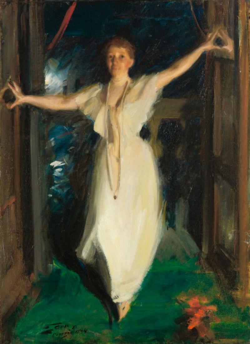 29 - Андерс Цорн - Изабелла Стюарт Гарднер в Венеции - 1894.jpg