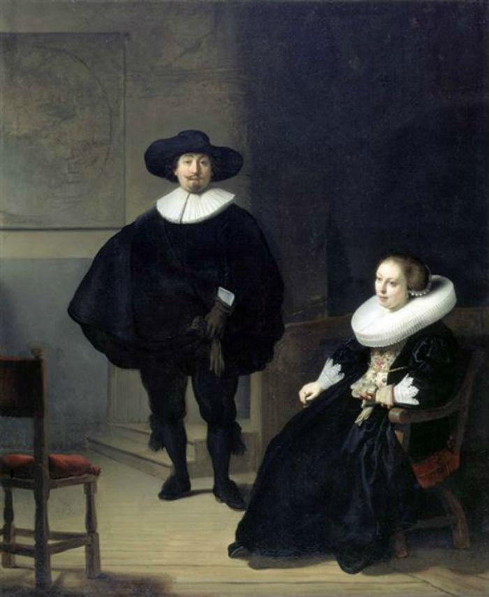34 - Рембрандт - Мужчина и женщина в чёрном.Jpg
