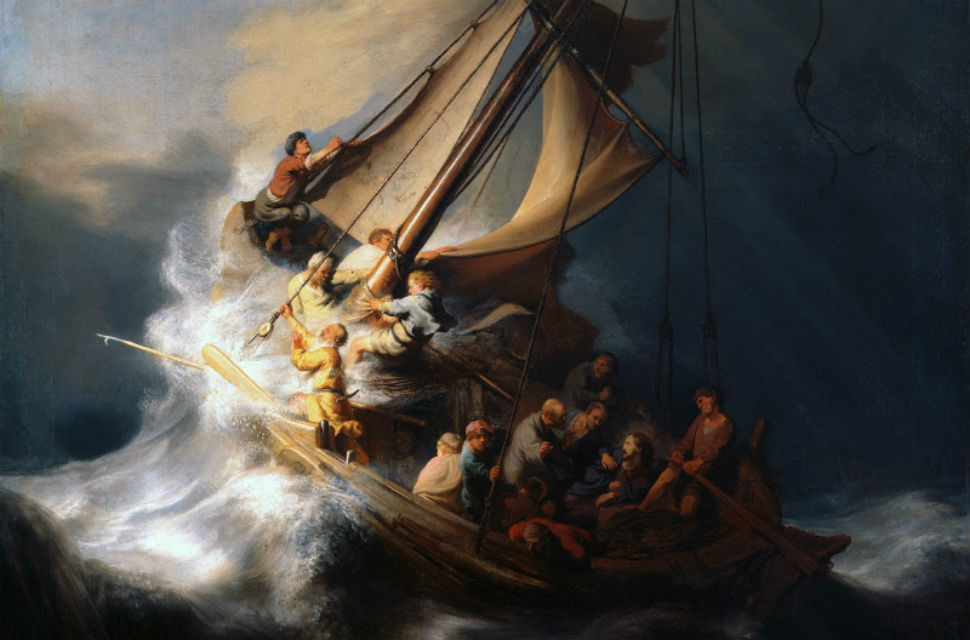 35 - Рембрандт - Христос во время шторма на море Галилейском.Jpg