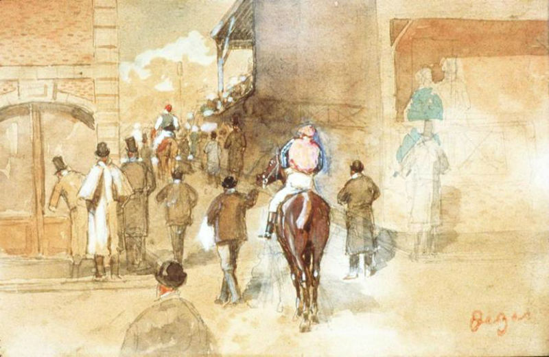 Edgar Degas La Sortie de Pesage.jpg