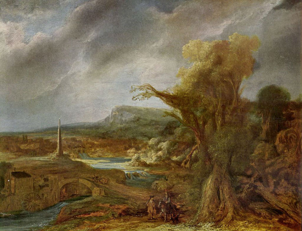 Говерт Флинк - Пейзаж с обелиском - 1638.jpg