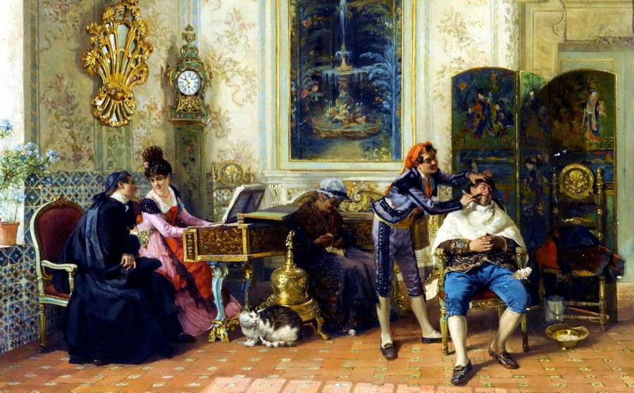 Севильский цирюльник - Луис Альварес Катала (1836-1901).jpg