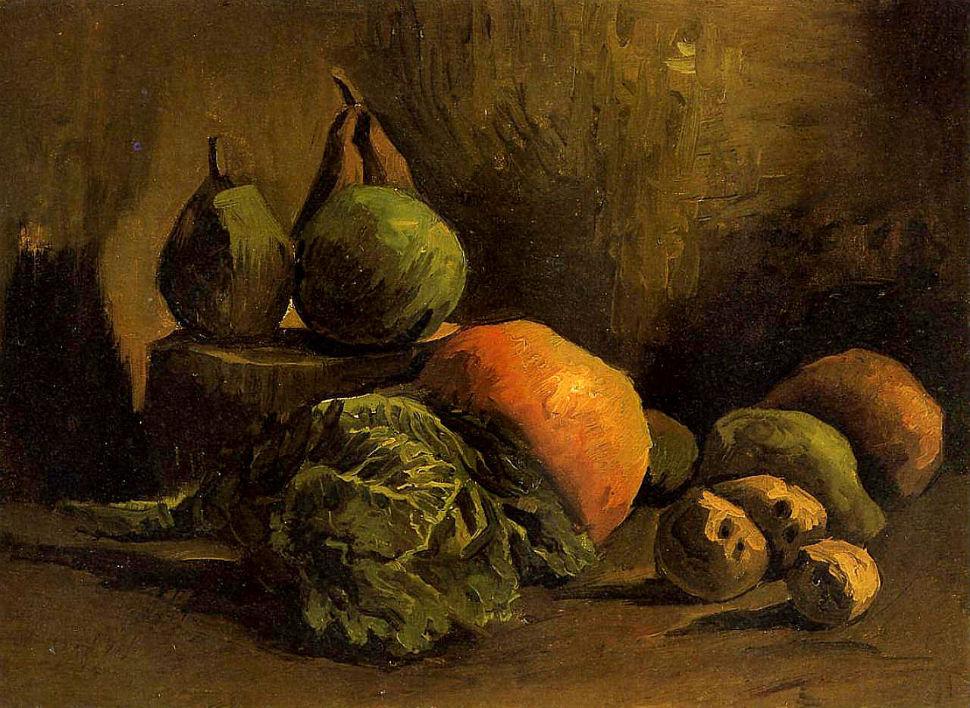 Винсент Ван Гог - Натюрморт с овощами и фруктами - 1885.jpg