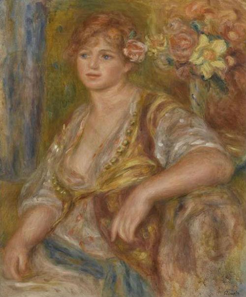Огюст Ренуар - Блондинка с розой - 1917.jpg