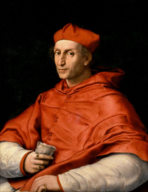 Рафаэль Санти - Портрет кардинала Бернардо Довици Биббиены (1516-1517).jpg