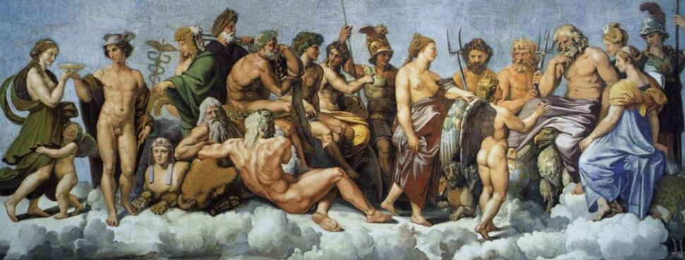 Рафаэль Санти - Торжество Психеи на Олимпе - фреска.jpg
