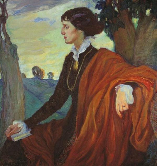 Ольга Делла-Вос Кардовская - Портрет Анны Ахматовой _ 1914.jpg