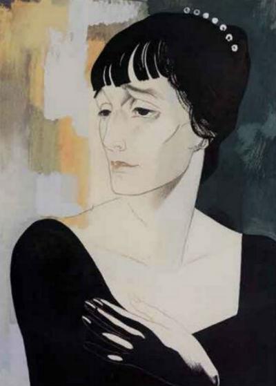 Юрий Анненкоыв - Портрет Анны Ахматовой - 1921.jpg