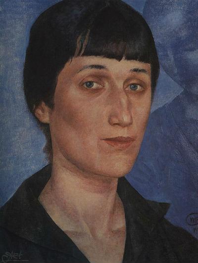 Кузьма Петров-Водкин - Портрет Анны Ахматовой - 1922.jpg