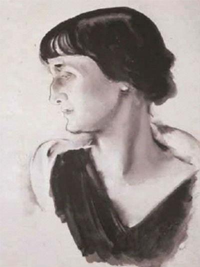 Николай Андреевич Тырса - Портрет Анны Ахматовой - 1928.jpg